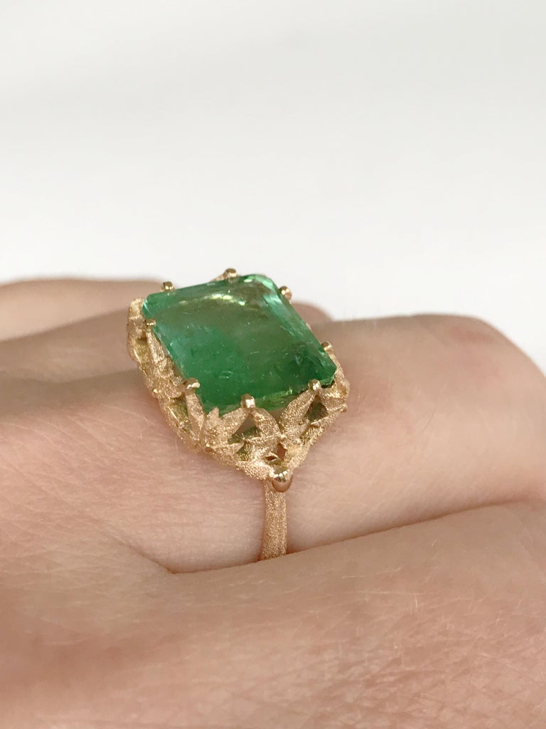 Dalben Green Tourmaline Rose Gold Cocktail Ring For Sale 5