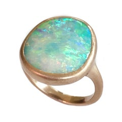 Dalben Light Australian Boulder Opal Rose Gold Ring