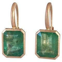 Dalben Musk Green Emerald Rose Gold Earrings