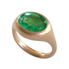 Dalben Oval Emerald Rose Gold Ring