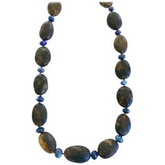 Dalben Rough Amber and Australian Opal Necklace