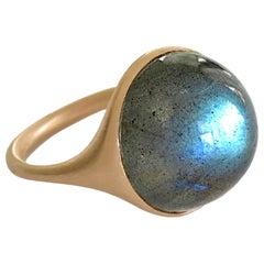 Dalben Round Labradorite Rose Gold Ring