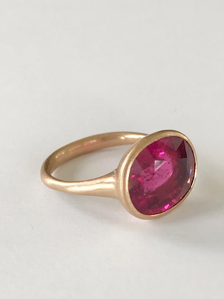 Dalben Rubellite Rose Gold Ring In New Condition For Sale In Como, IT