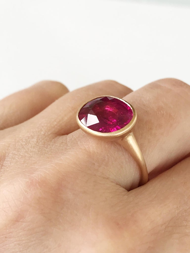 Women's Dalben Rubellite Rose Gold Ring For Sale