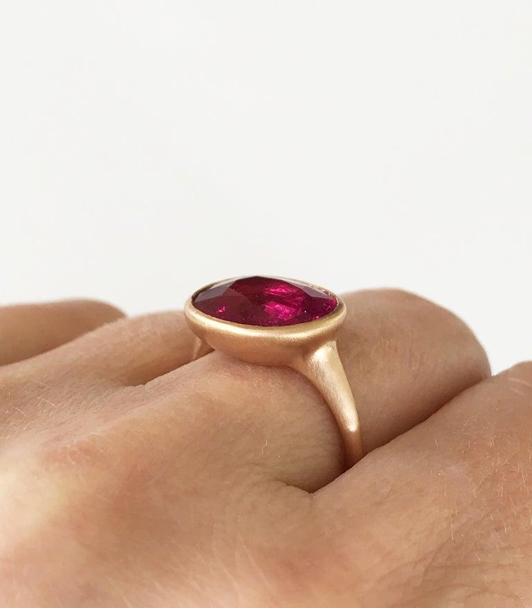 Dalben Rubellite Rose Gold Ring For Sale 1