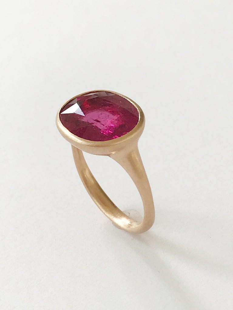 Dalben Rubellite Rose Gold Ring For Sale 2
