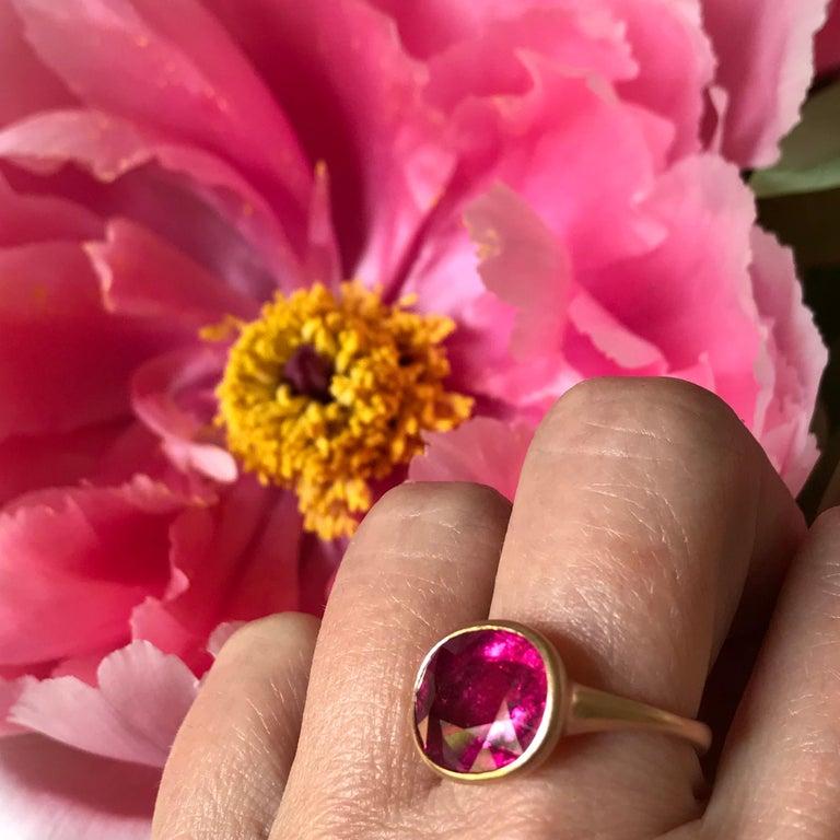 Dalben Rubellite Rose Gold Ring For Sale 3