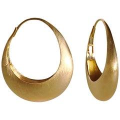 Dalben Yellow Gold Hoop Earrings