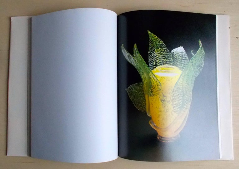 Brutalist Dale Chihuly 1990 Oil on Paper Drawing in His Book