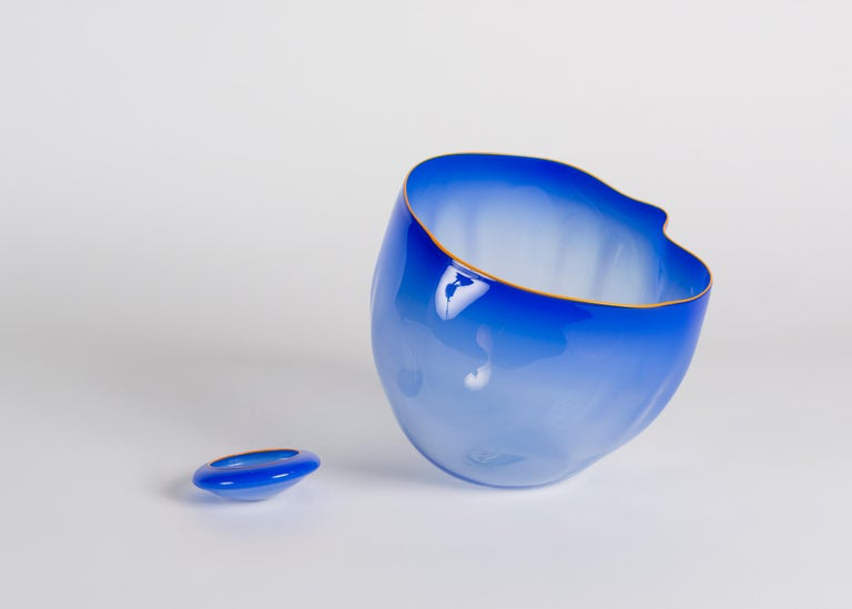 American Dale Chihuly, Glass Sculpture in Two Elements, United States, Early 21st Century For Sale