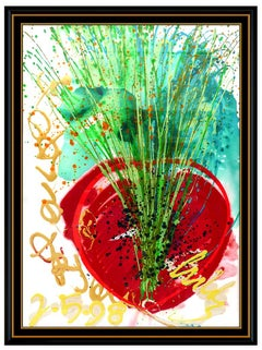 Dale Chihuly Original Acrylic Painting Signed Ikebana Large Abstract Art Glass