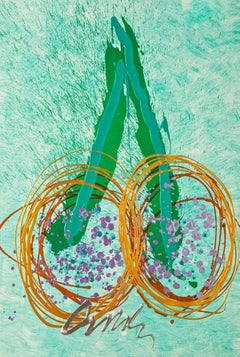Float, (Mixed Media Lithograph & Acrylic), Limited Edition, Dale Chihuly