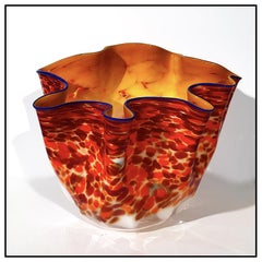 Dale Chihuly Large Original Glass Macchia Hand Signed Blown Authentic Modern Art
