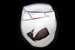 Dale Chihuly Navajo Blanket Basket 1980 Glass Sculpture Signed