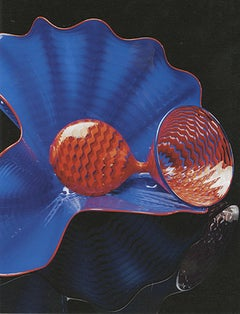 """Lapis Persian Pair,"" biomorphic hand-blown glass sculpture by Dale Chihuly"