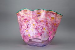 Large Hand Blown Glass Sculpture Macchia Basket