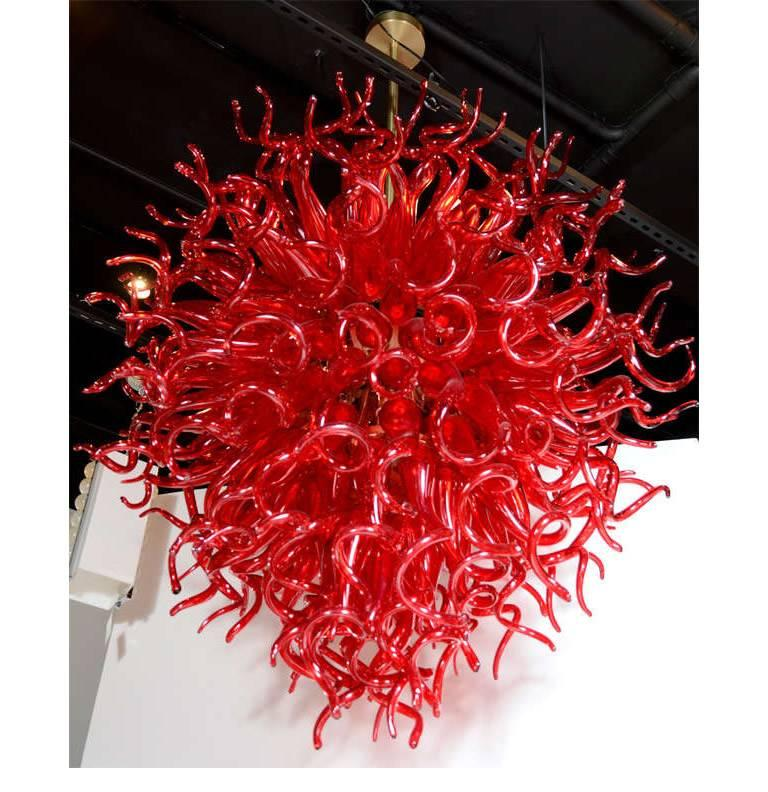 Dale Chihuly Style Murano Glass Chandelier For Sale At 1stdibs