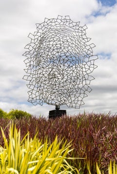 Inside/Out - large, abstracted, figurative, outdoor stainless steel sculpture