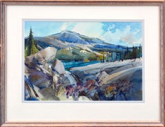 Granite Bluffs Yosemite Watercolor Landscape