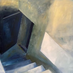 Into The Light, Oil on Linen, Archtectural, Building, Cityscape