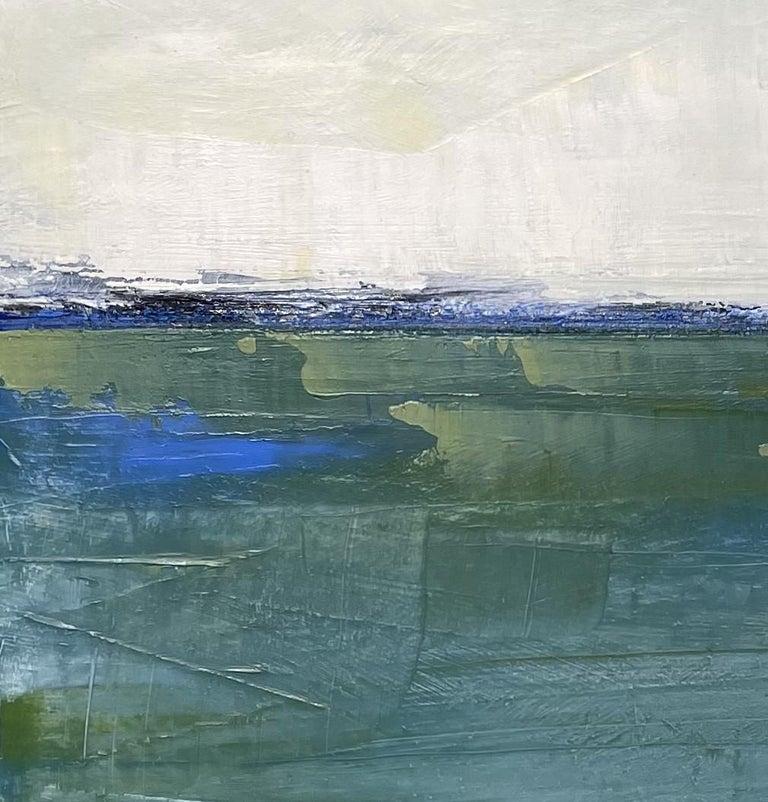 Westport Seascape, Waterscape, Oil, Wood Panel, Water, Sea, Sky,  - Painting by Dale Najarian