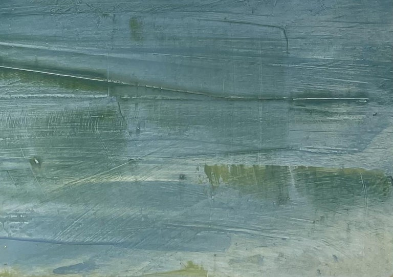 Westport Seascape, Waterscape, Oil, Wood Panel, Water, Sea, Sky,  - Contemporary Painting by Dale Najarian