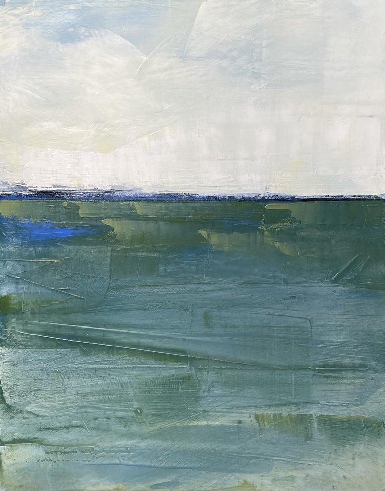 Dale Najarian Landscape Painting - Westport Seascape, Waterscape, Oil, Wood Panel, Water, Sea, Sky,