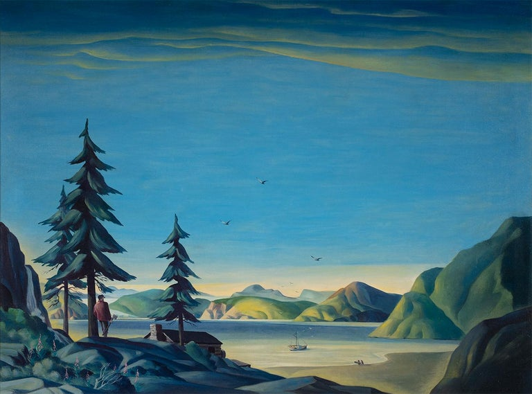 Dale Nichols Landscape Painting - Land of the Midnight Sun