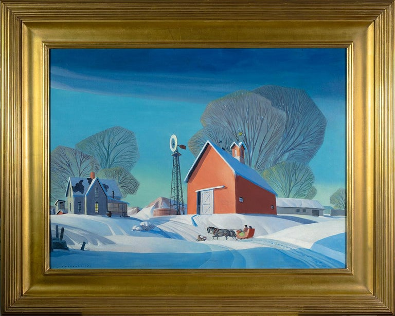Winter on the Farm - Painting by Dale Nichols