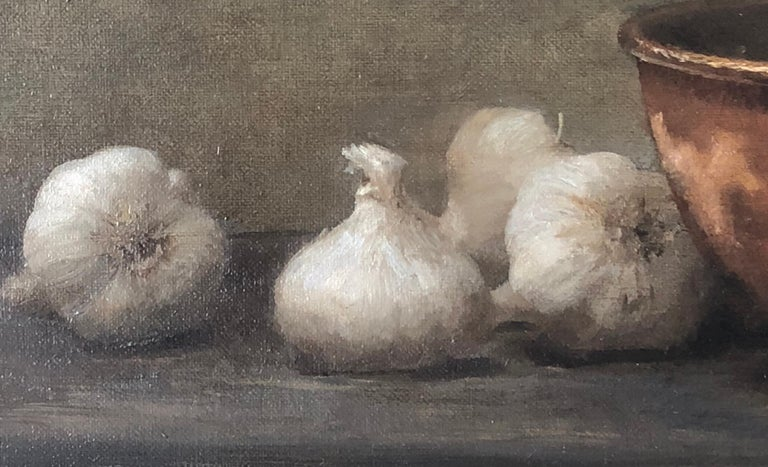 Garlic and Copper - Painting by Dale Zinkowski