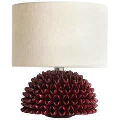 Dalia Table Lamp in Bordeaux by Riccio Caprese, Made in Italy