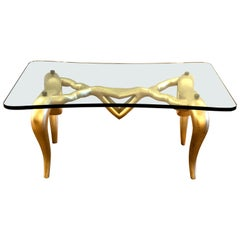 Dalilesque Gold Leaf Surrealistic Coffee Table