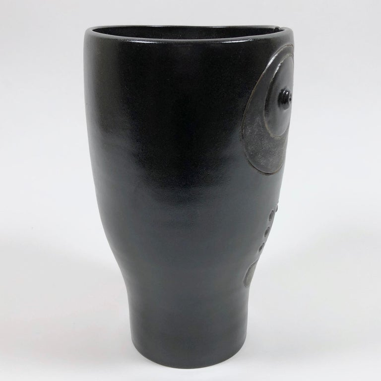 Dalo, Black Ceramic Vase For Sale 1