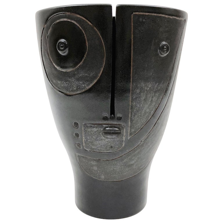 Dalo, Black Ceramic Vase For Sale