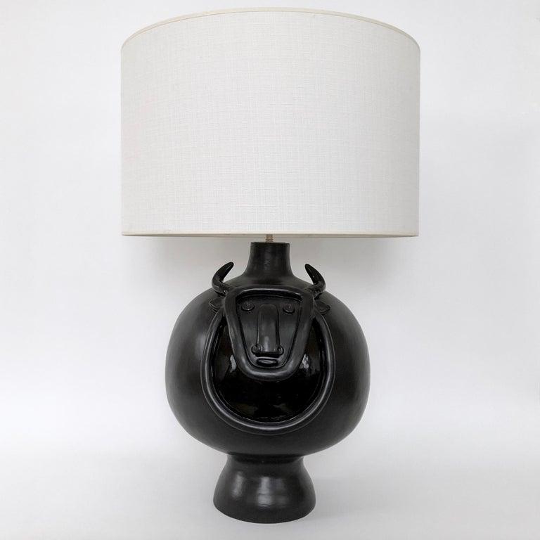 Dalo, Large Black Ceramic Table Lamp Base For Sale 4