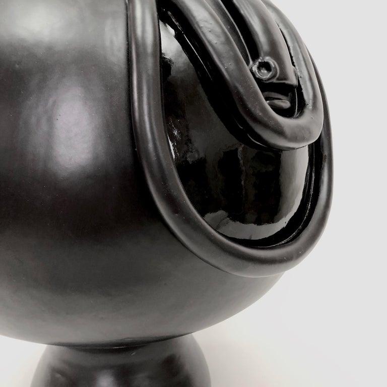 Dalo, Large Black Ceramic Table Lamp Base For Sale 5