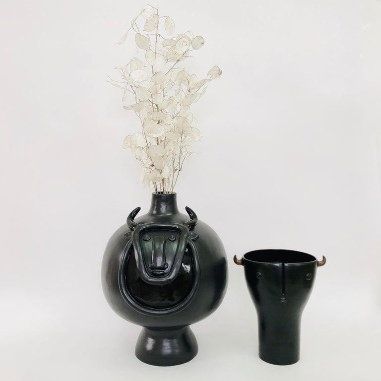 Dalo, Large Black Ceramic Table Lamp Base For Sale 6