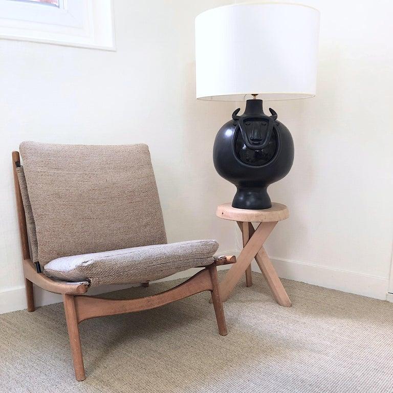Dalo, Large Black Ceramic Table Lamp Base For Sale 7