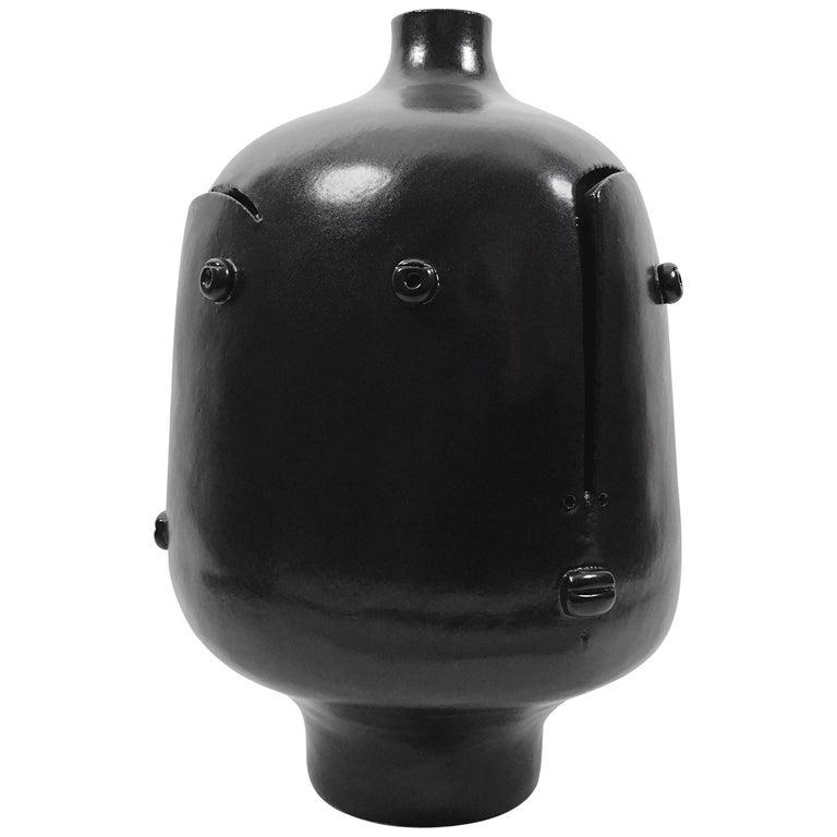 Dalo, Large Black Ceramic Table Lamp For Sale