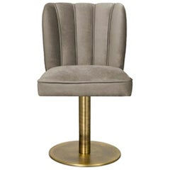 Dalyan II Dining Chair with Swivel and Synthetic Leather