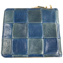 DAMASQUINA Patchwork Navy & Blue Leather Wallet