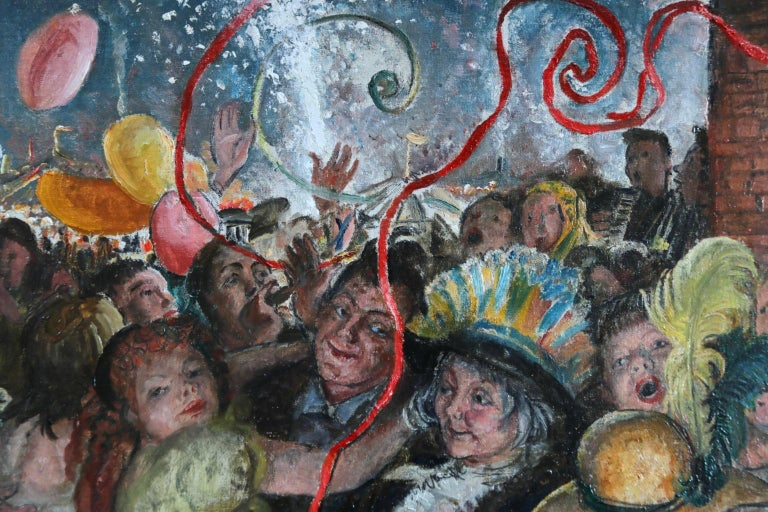 'Appy 'Ampstead - 20th Century Oil, Figures Celebrating at Party by Laura Knight 1