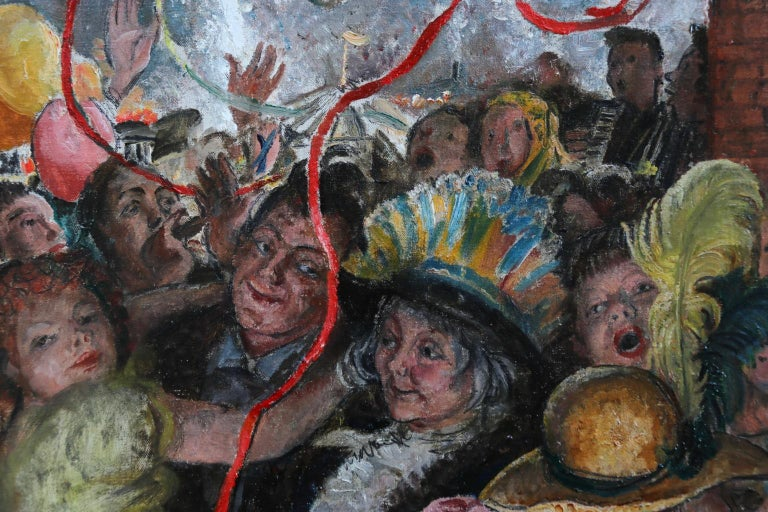 'Appy 'Ampstead - 20th Century Oil, Figures Celebrating at Party by Laura Knight 3