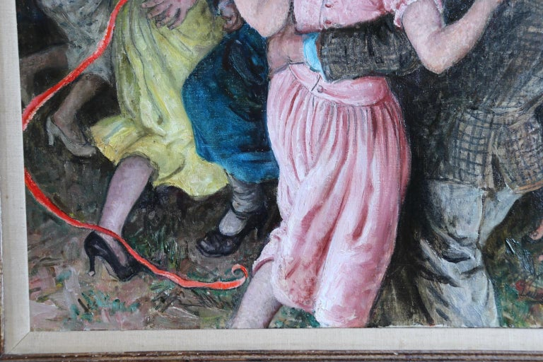'Appy 'Ampstead - 20th Century Oil, Figures Celebrating at Party by Laura Knight 4