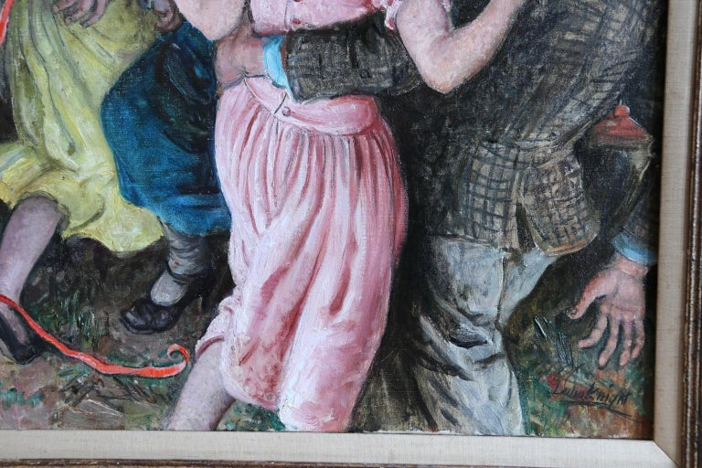 'Appy 'Ampstead - 20th Century Oil, Figures Celebrating at Party by Laura Knight 5