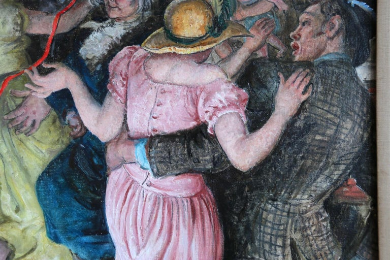'Appy 'Ampstead - 20th Century Oil, Figures Celebrating at Party by Laura Knight 6