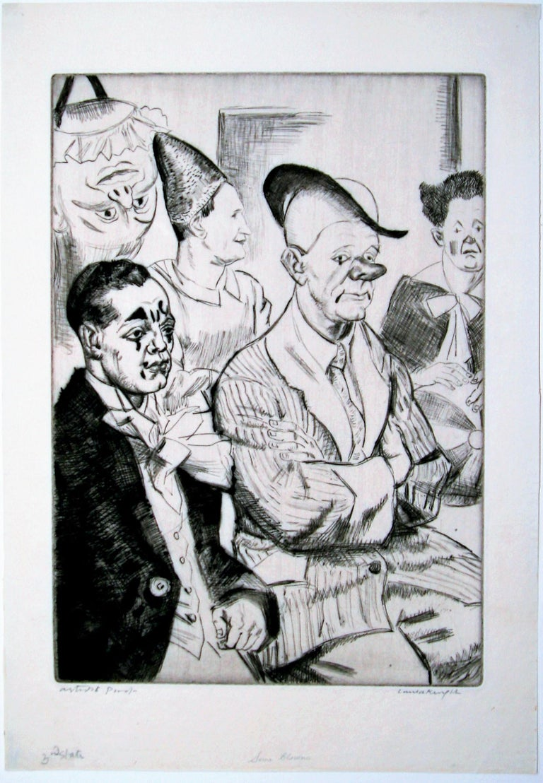 Some Clowns. - Print by Dame Laura Knight