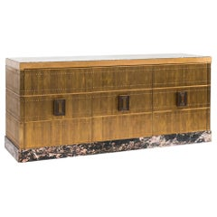 Damian Jones, Brass and Marble Console, USA