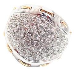 Damiani 1.36 Carat Diamond Cocktail White Gold Ring