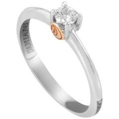 Damiani 18 Karat Multi-Gold Diamond Solitaire Engagement Ring